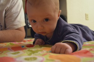 Evelyn's tummy time
