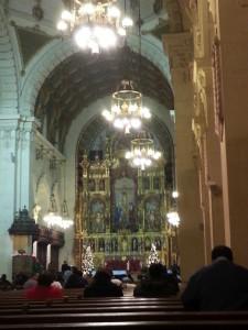 interior of St Vincent de Paul, LA