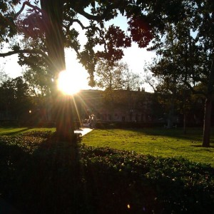 sunset at USC