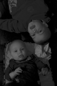 Evelyn and Owen B&W