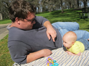Daddy and Evey at the park 3
