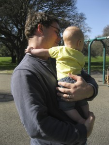 Daddy and Evey at the park 2