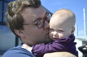 Daddy and Evey at the Bay