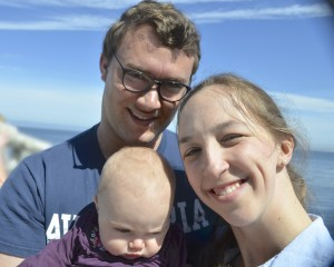 Family photo at Monterey Bay A
