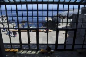 the deck overlooking Monterey Bay