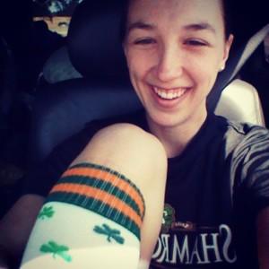 Rockin' St. Paddy's Day socks