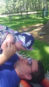 playing with daddy at the park
