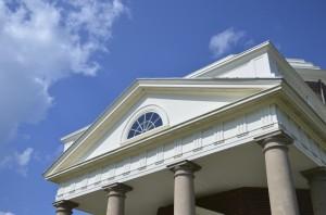 pediment at Monticello