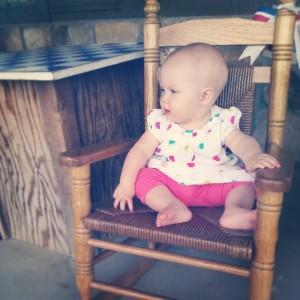 Evelyn at Cracker Barrel