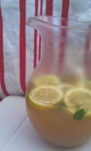 green peach iced tea