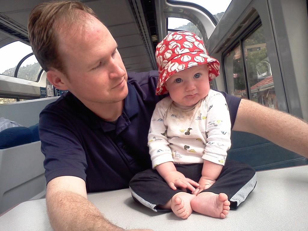 baby train travel