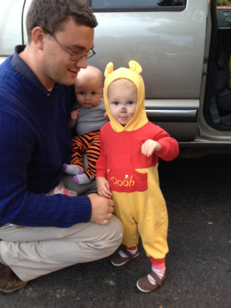 Pooh and Tigger with daddy