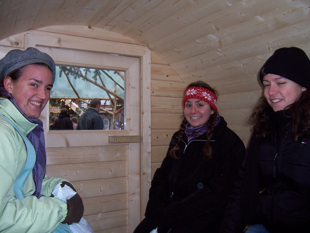 inside the warming hut