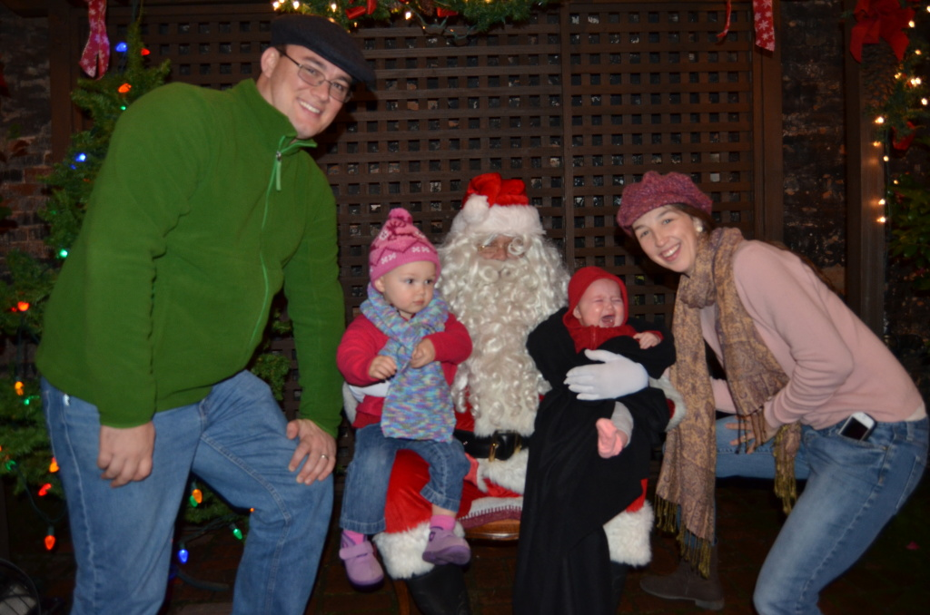 family and santa