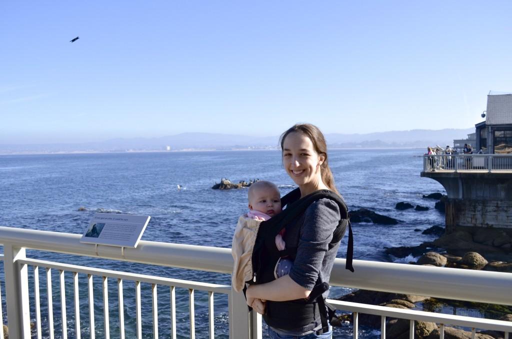 L and mama at the bay