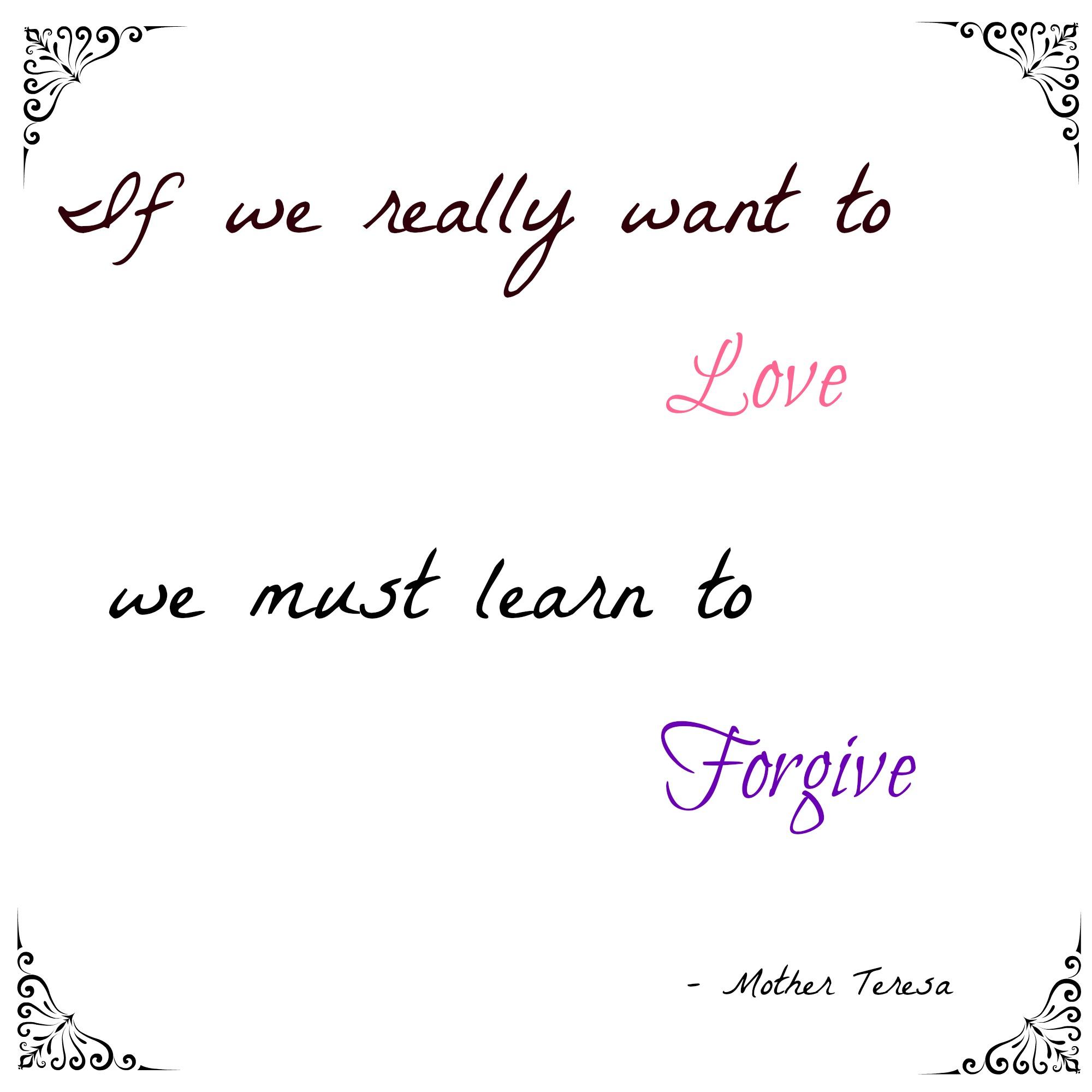 Forgiveness lent