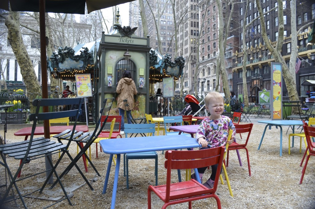 Bryant Park children's area