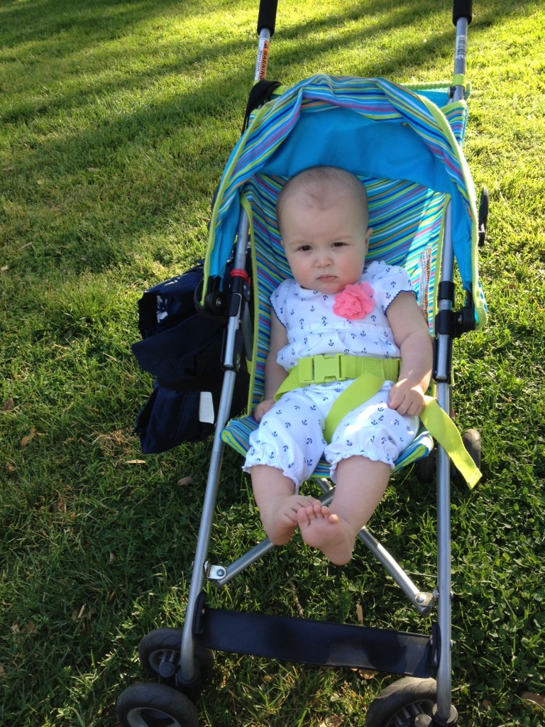 strolling at the park