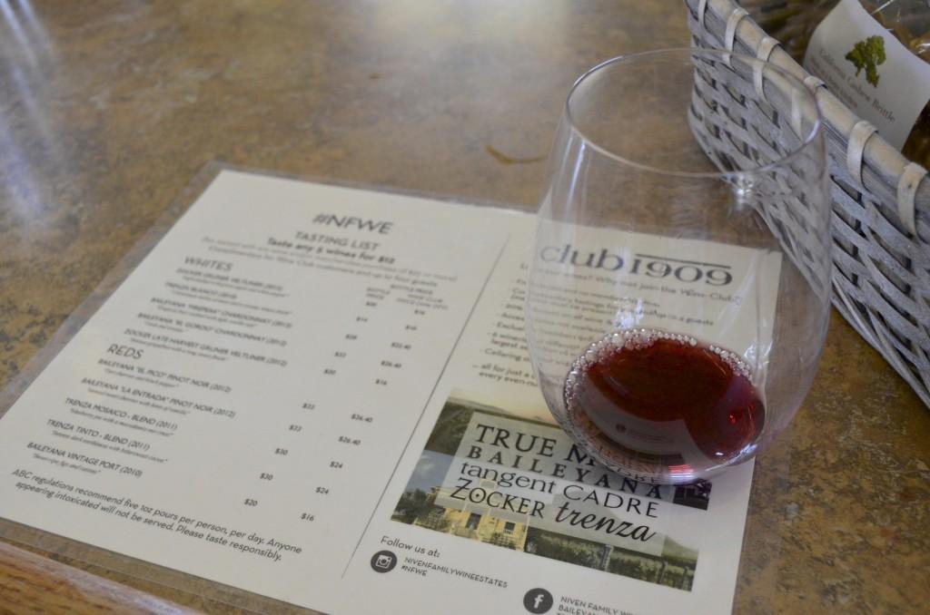 wine tasting SLO