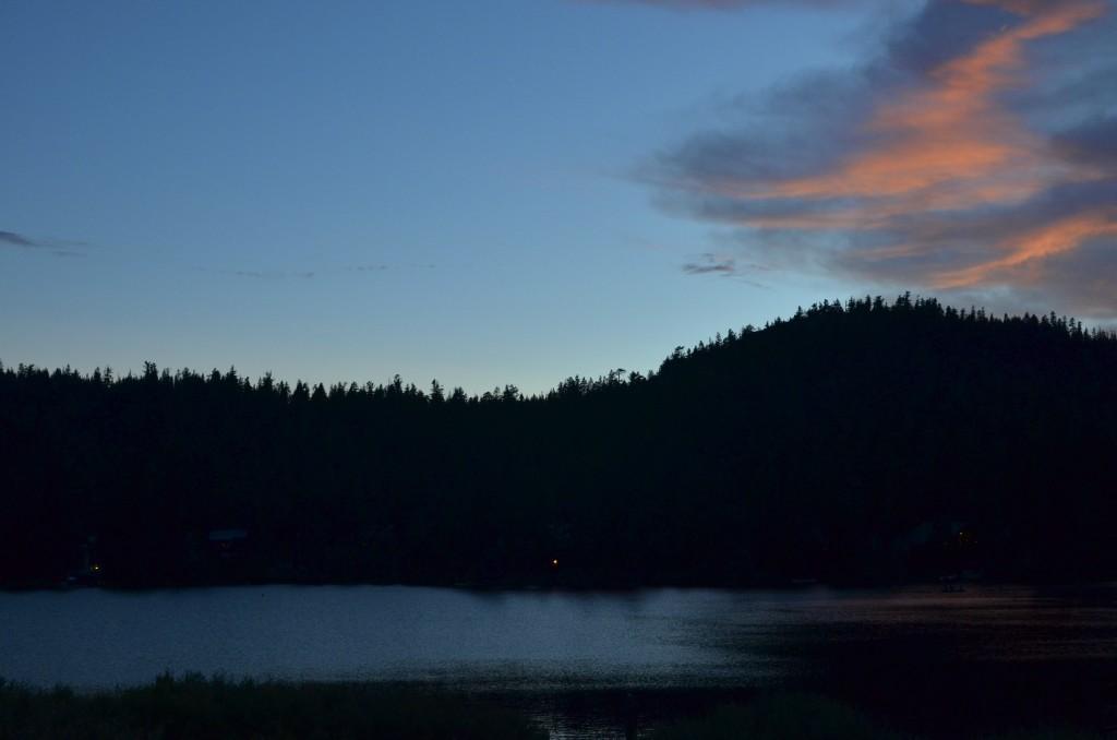 sunset at Serene Lakes