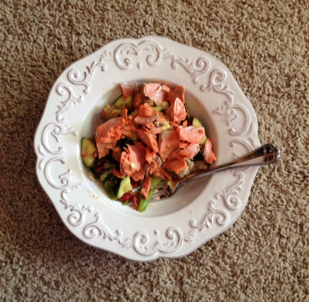 salmon-bread-salad