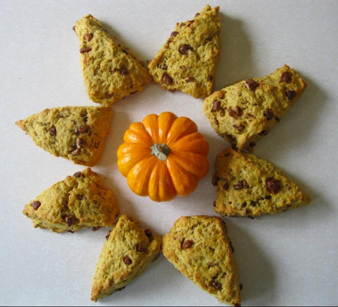 pumpkin-pecan-scones-mini-pumpkin
