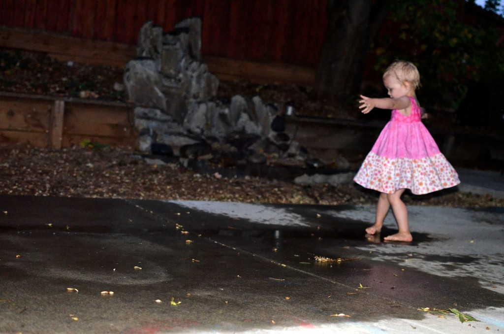 dancing in puddles