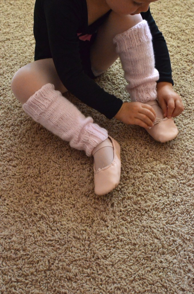 fixing-her-slippers