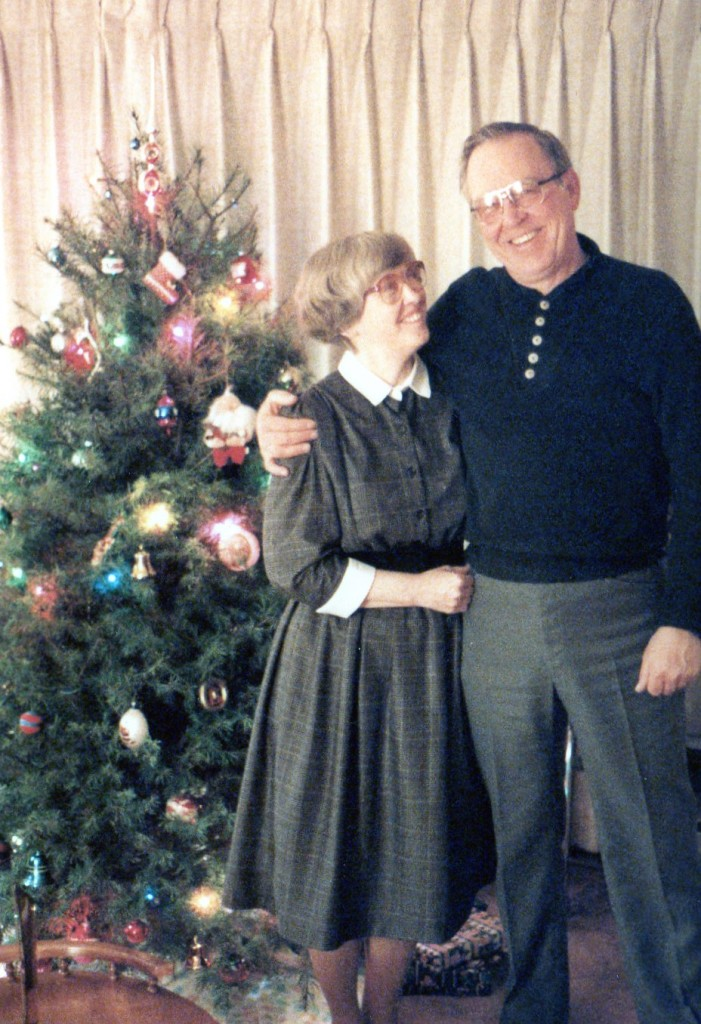 grandma and grandpa at christmas