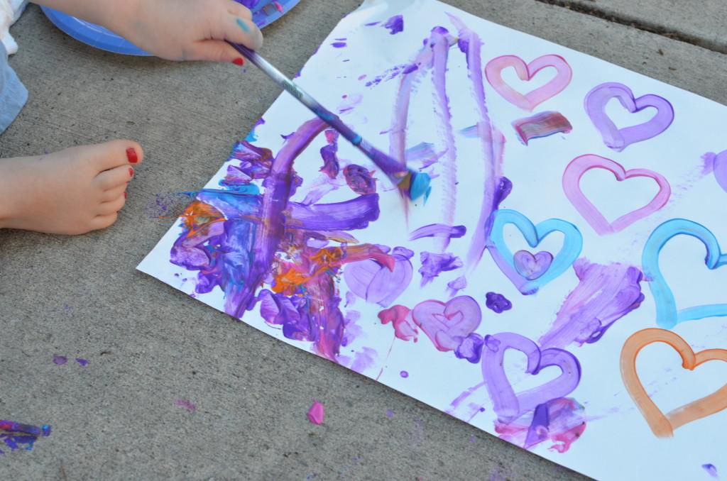painting hearts - February 2015