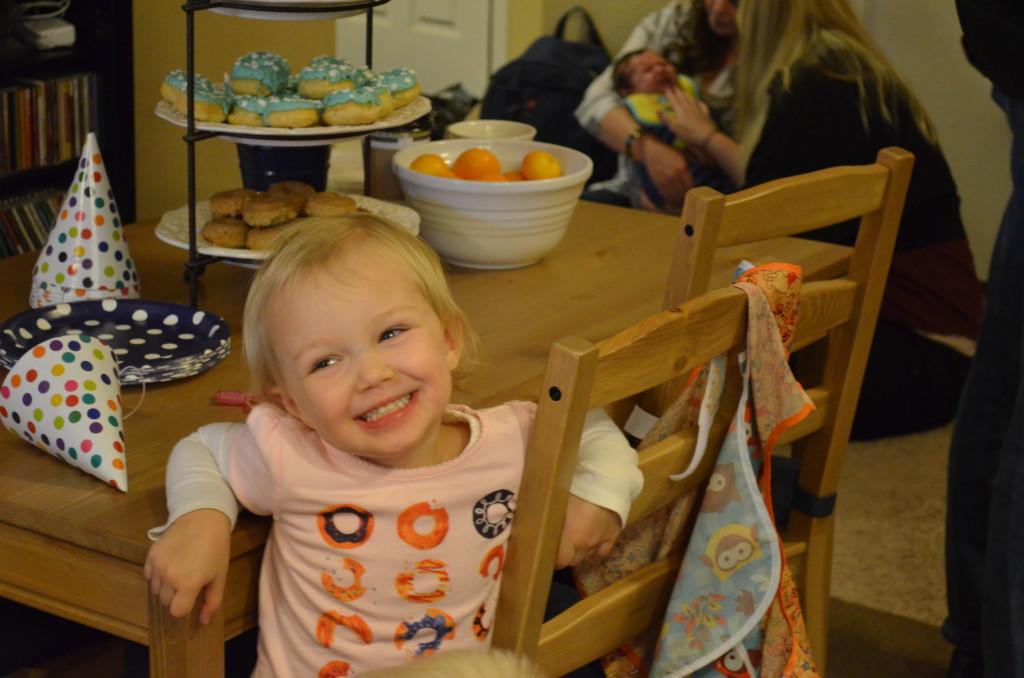 Evey's donut birthday - November 2015