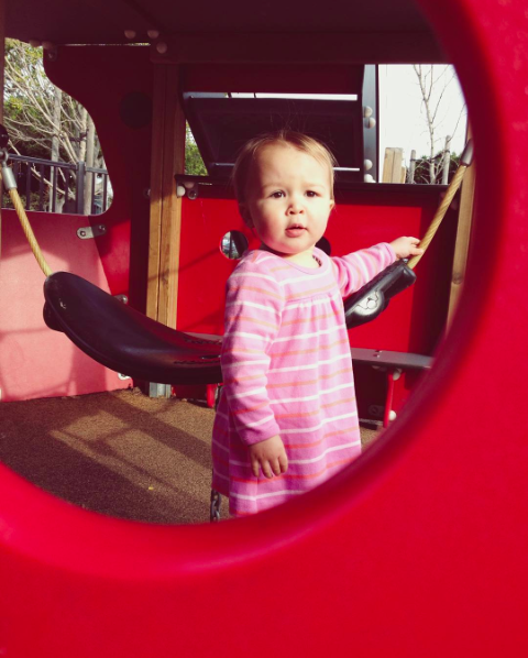 lu at the playground