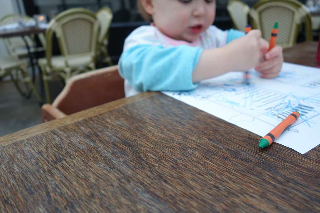 coloring at the table