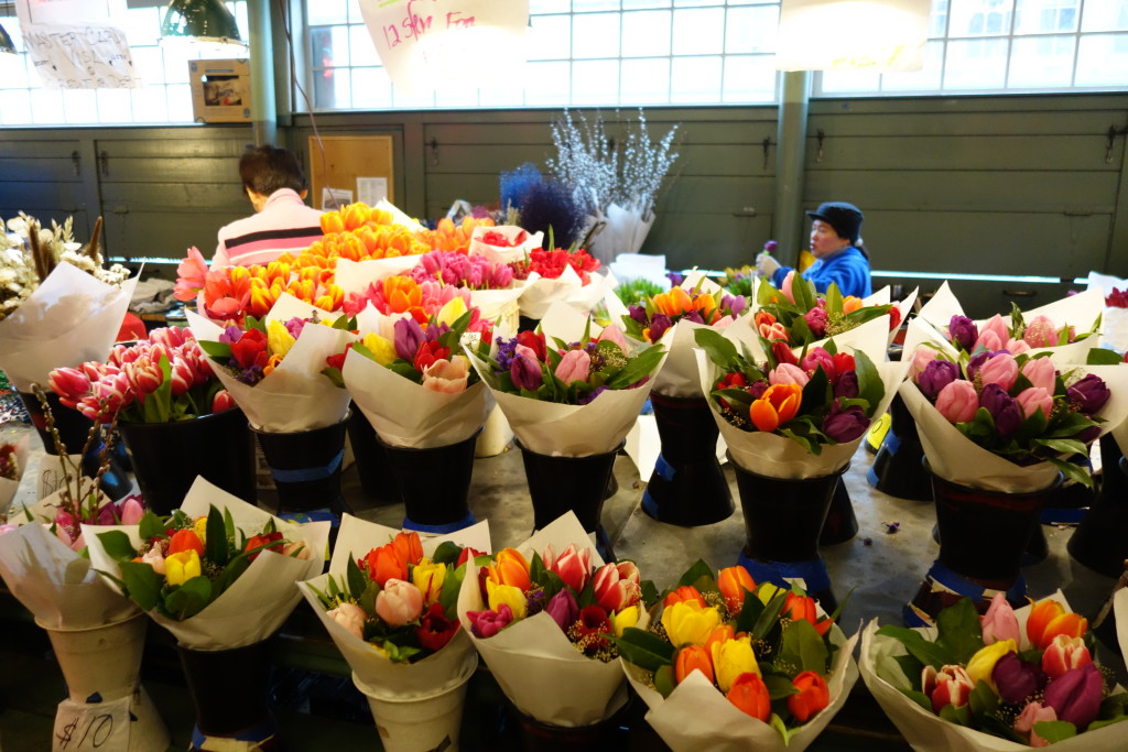 flowers at Pikes Place Market