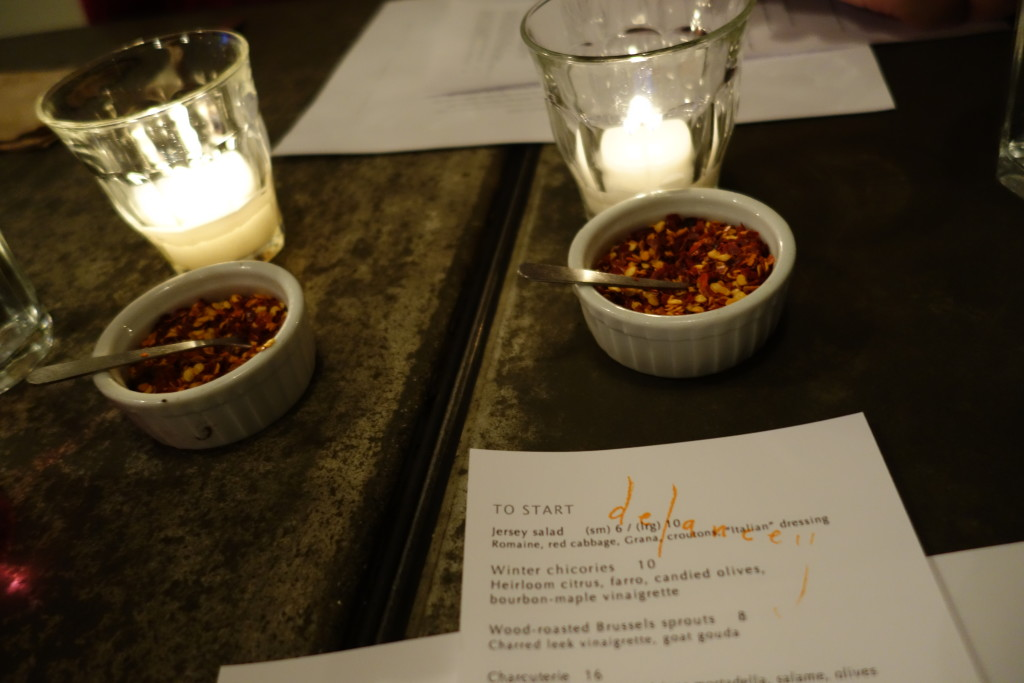 Delancey menu