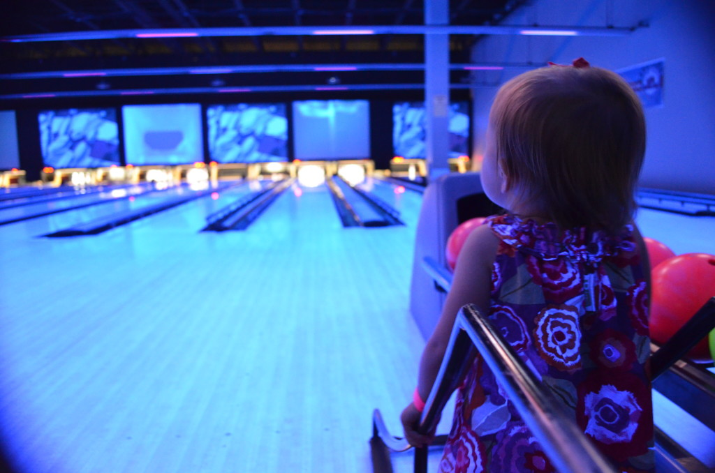 bowling in neon lights