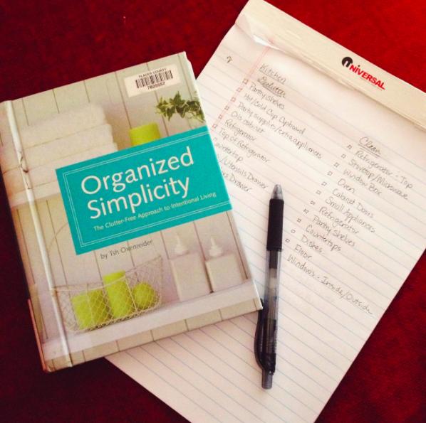 organized simplicity lists