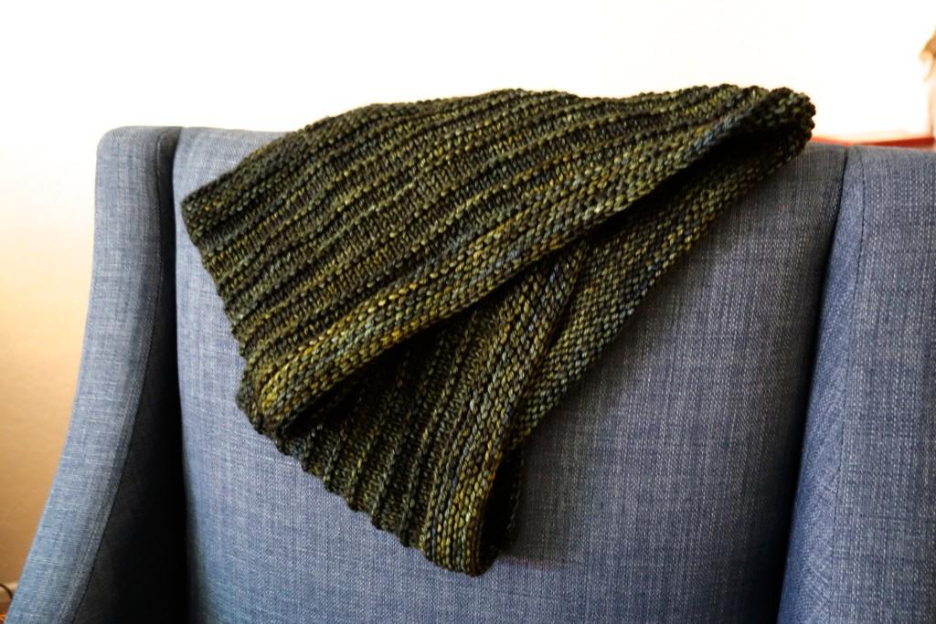 purl ridge scarf