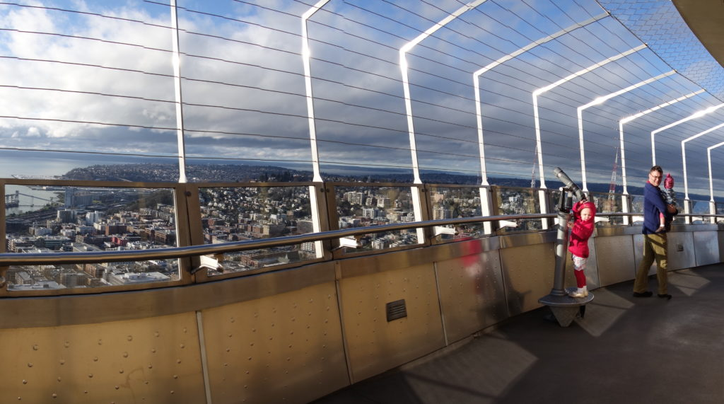 top of the Space Needle - Feb 2016