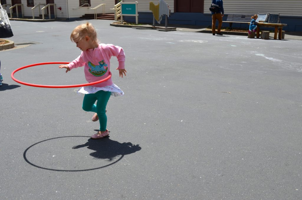 hula hooping - June 2016