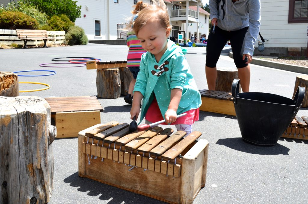 playing xylophone - June 2016