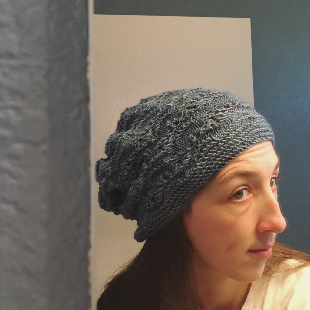 knit hat - Sept 2016