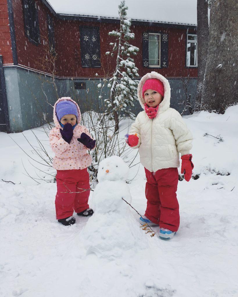 building a snowman - Nov 2016