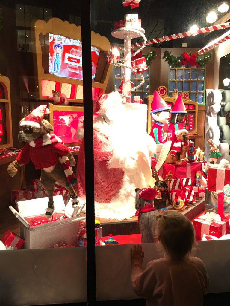 SF store windows at Christmas - Dec 2016