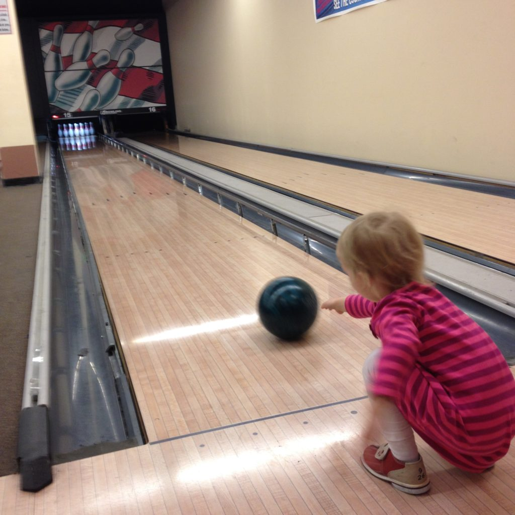 first time bowling - April 2016